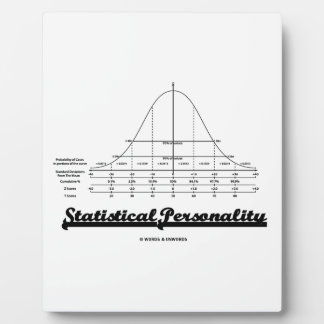 Statistical Personality Bell Curve Humor Plaque