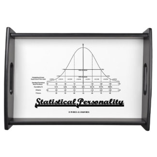 Statistical Personality Bell Curve Humor Serving Tray