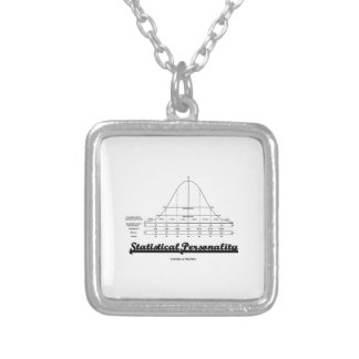 Statistical Personality Bell Curve Humor Silver Plated Necklace