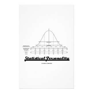 Statistical Personality Bell Curve Humor Stationery