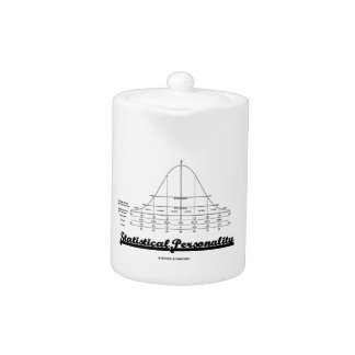 Statistical Personality Bell Curve Humor Teapot