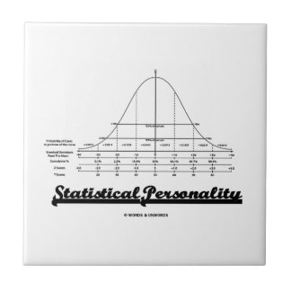Statistical Personality Bell Curve Humor Tile