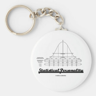 Statistical Personality (Bell Curve) Keychain