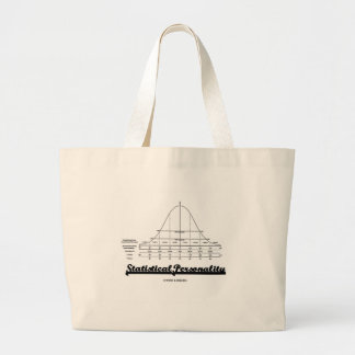 Statistical Personality (Bell Curve) Large Tote Bag