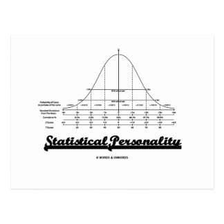 Statistical Personality (Bell Curve) Postcard