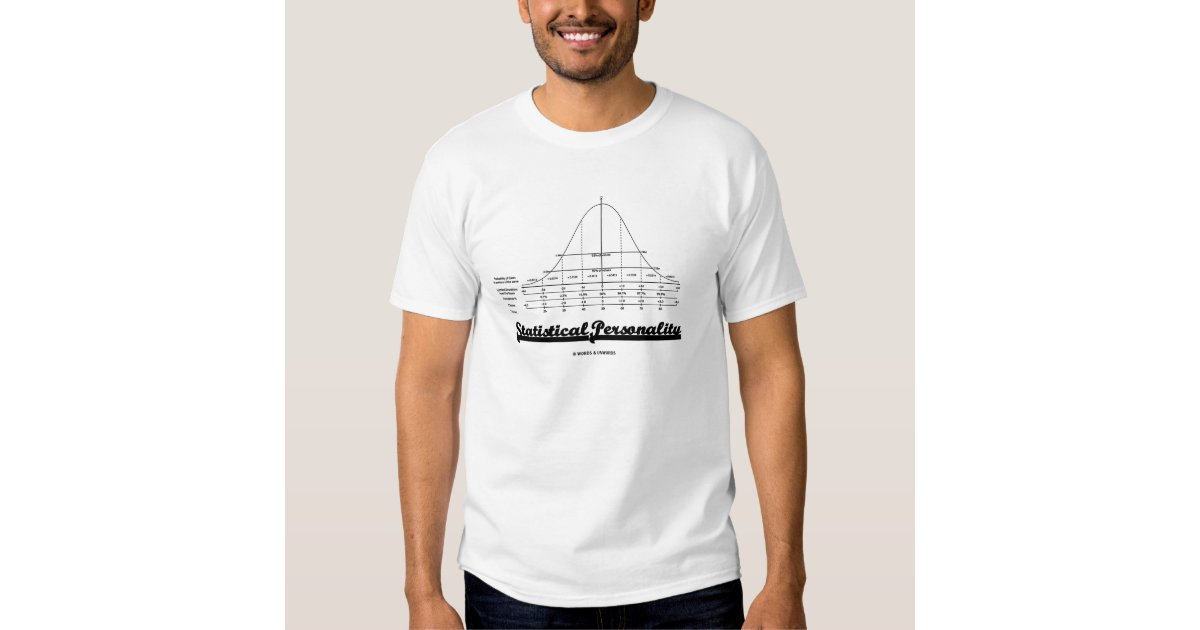 statistical personality normal distribution curve t shirt