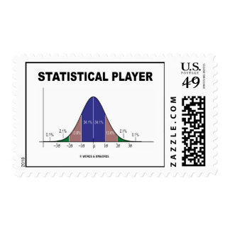 Statistical Player (Bell Curve Attitude) Postage Stamp