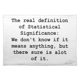 Statistical Significance Placemat