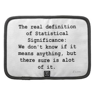 Statistical Significance Organizer