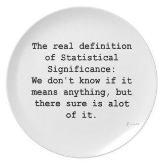 Statistical Significance Party Plate