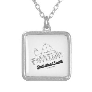 Statistical Spirit (Normal Distribution Curve) Silver Plated Necklace