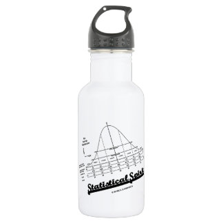 Statistical Spirit (Normal Distribution Curve) Stainless Steel Water Bottle