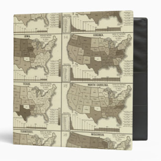 Statistical United States lithographed maps 3 Ring Binder