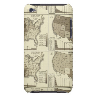 Statistical United States lithographed maps iPod Touch Cases
