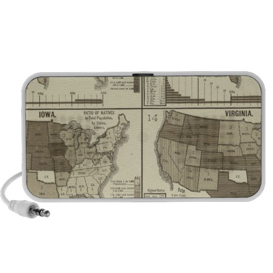 Statistical United States lithographed maps Mini Speaker