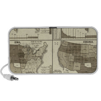 Statistical United States lithographed maps Speakers