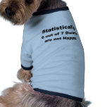 statistically 6 out of 7 dwarfs are not happy.png doggie t shirt