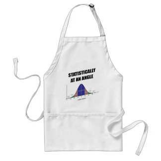 Statistically At An Angle (Bell Curve Humor) Adult Apron