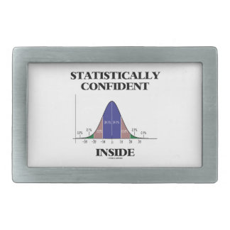 Statistically Confident Inside (Bell Curve Humor) Belt Buckle
