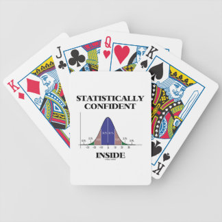 Statistically Confident Inside (Bell Curve Humor) Bicycle Playing Cards