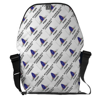 Statistically Confident Inside Bell Curve Humor Courier Bag