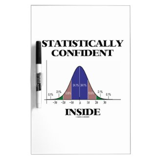 Statistically Confident Inside (Bell Curve Humor) Dry-Erase Whiteboard