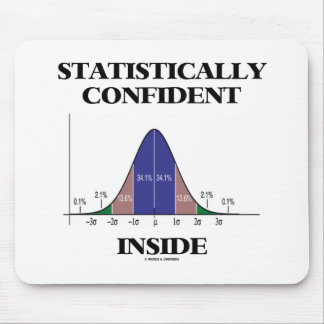 Statistically Confident Inside (Bell Curve Humor) Mouse Pad