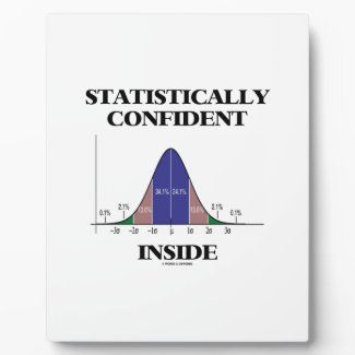 Statistically Confident Inside (Bell Curve Humor) Display Plaque