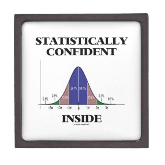 Statistically Confident Inside (Bell Curve Humor) Premium Jewelry Box