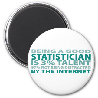 Statistician 3% Talent 2 Inch Round Magnet