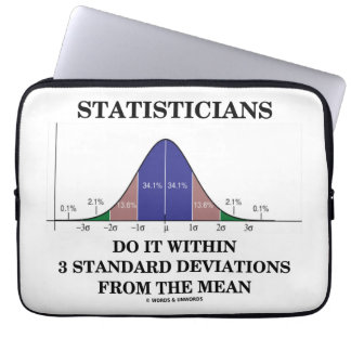 Statisticians Do It Within 3 Standard Deviations Computer Sleeve