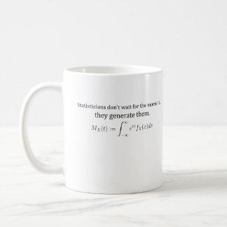 Statisticians don't wait coffee mug
