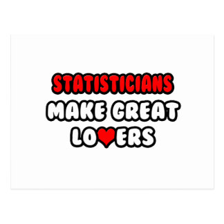Statisticians Make Great Lovers Postcard
