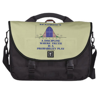 Statistics A Discipline Where Truth Is Probability Laptop Bag