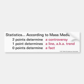 Statistics According to Mass Media Bumper Sticker