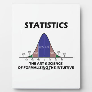 Statistics Art Science Of Formalizing Intuitive Photo Plaque