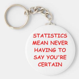statistics basic round button keychain
