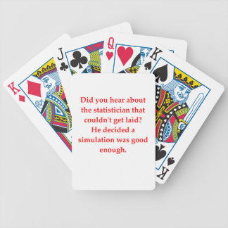statistics bicycle playing cards