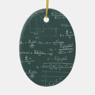 Statistics blackboard ceramic ornament