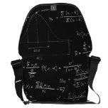 Statistics blackboard courier bags