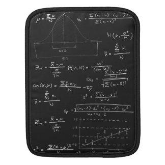 Statistics blackboard sleeves for iPads