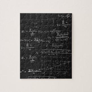 Statistics blackboard jigsaw puzzle