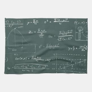 Statistics blackboard hand towel