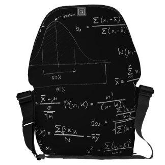 Statistics blackboard messenger bag