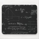 Statistics blackboard mouse pad