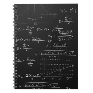 Statistics blackboard notebook