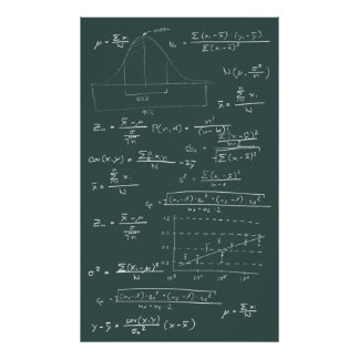 Statistics blackboard poster