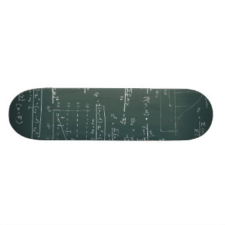 Statistics blackboard skateboard