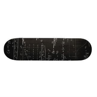 Statistics blackboard skateboard deck