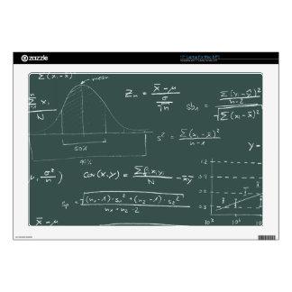 "Statistics blackboard skins for 17"" laptops"